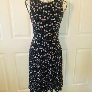 Loft Size 2 A Line Cherry Vintage Style Dress